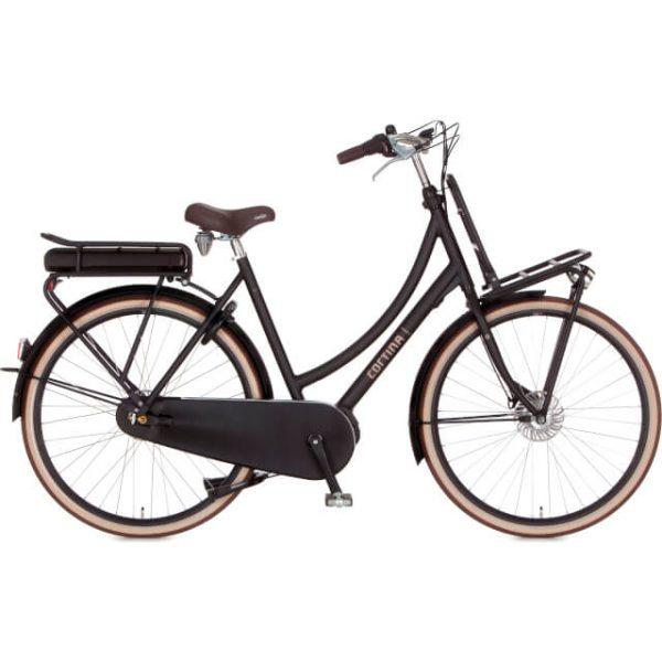 elektrische fiets kopen in Groningen Cortina dames transporter zwart