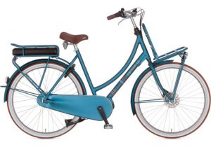 elektrische fiets kopen in Groningen Cortina transportfiets blauw