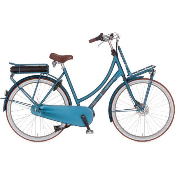 elektrische fiets kopen in Groningen Cortina dames transporter blauw